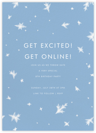 Snow Crystals - Paperless Post - Kids' Birthday Invitations