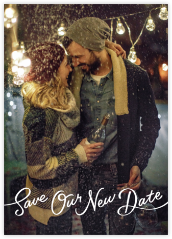 Sincerely - New Date - Paperless Post - Wedding Save the Dates