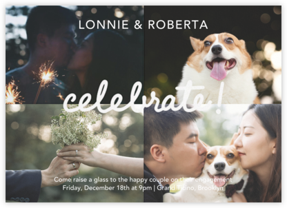 Quattro Celebrate (Photo) - Paperless Post - Engagement party invitations