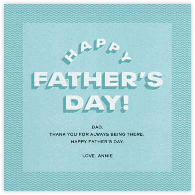 Blue Waves - Paperless Post - Father's Day Cards