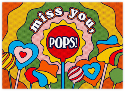 Rainbow Pops - Paperless Post - Father's Day Cards