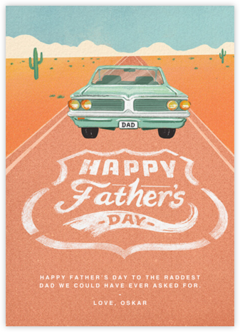 Vanity Plate - Paperless Post - Father's Day Cards