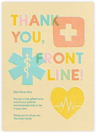 Front Line - Paperless Post - Online Thank You Cards