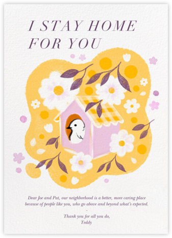 Tree House - Paperless Post - Online Thank You Cards