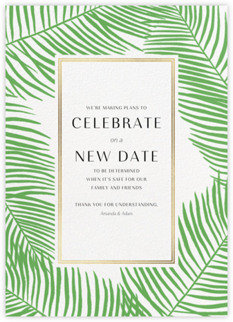 Palmier Nouveau - Paperless Post - Wedding Invitations