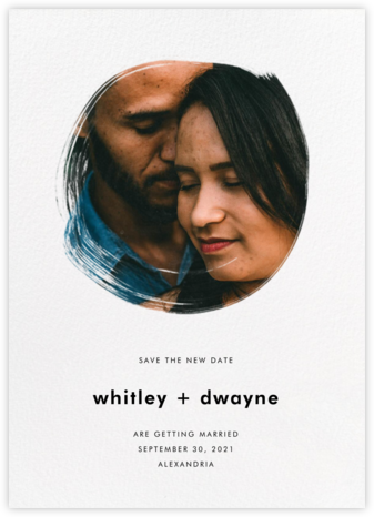 Painted Circle - New Date - Paperless Post - Modern save the dates
