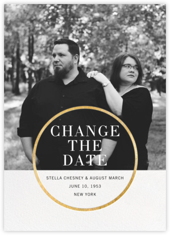 Noland (New Date) - Gold  - Paperless Post - Modern save the dates