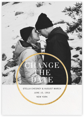 Noland (New Date) - Gold  - Paperless Post - Gold and metallic save the dates