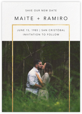 Truitt (New Date) - Gold - Paperless Post - Photo save the dates
