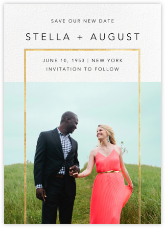 Truitt (New Date) - Gold - Paperless Post - Gold and metallic save the dates