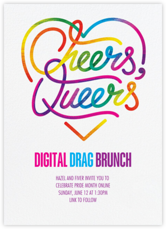 Rainbow Cheers - Paperless Post - Pride Party Invitations