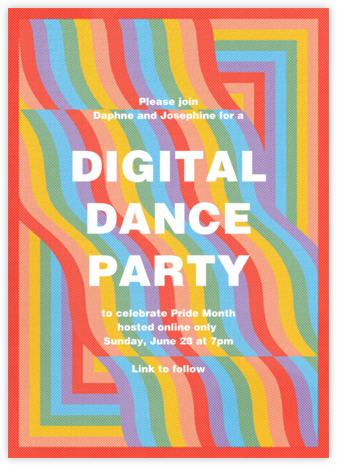 Rainbow Waves - Paperless Post - Pride Party Invitations