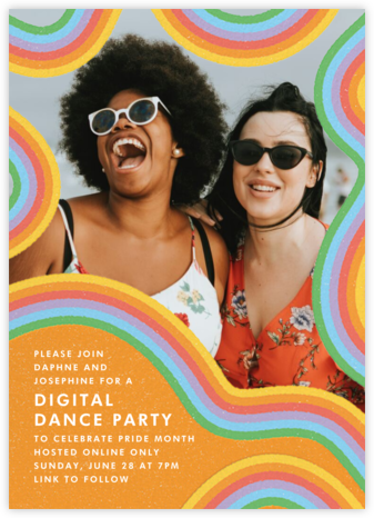 Squiggle Frame - Paperless Post - Pride Party Invitations