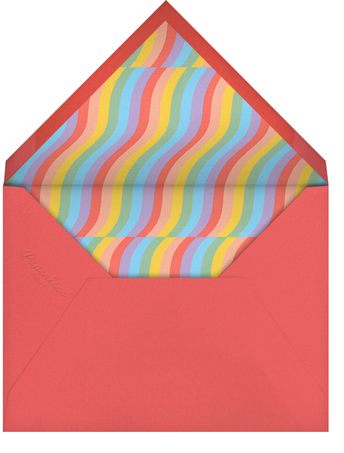 Rainbow Waves - Paperless Post - Pride - envelope back