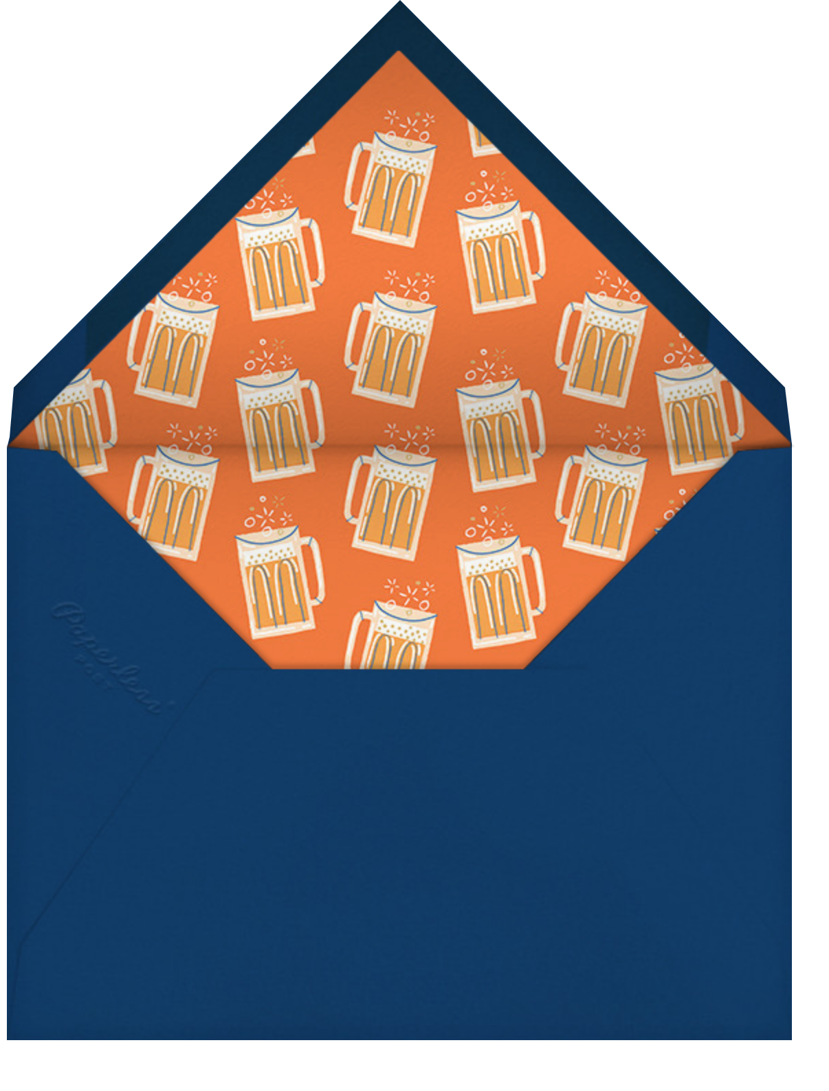 Beer Me - Paperless Post - Father's Day - envelope back
