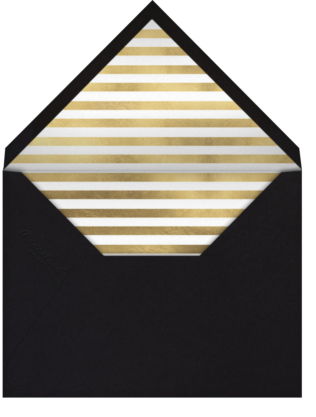 Champagne Bubbles (Photo) - Gold - Paperless Post - Envelope