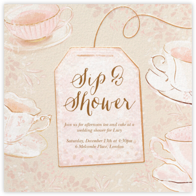 Sipping Tea - Paperless Post - Bridal shower invitations