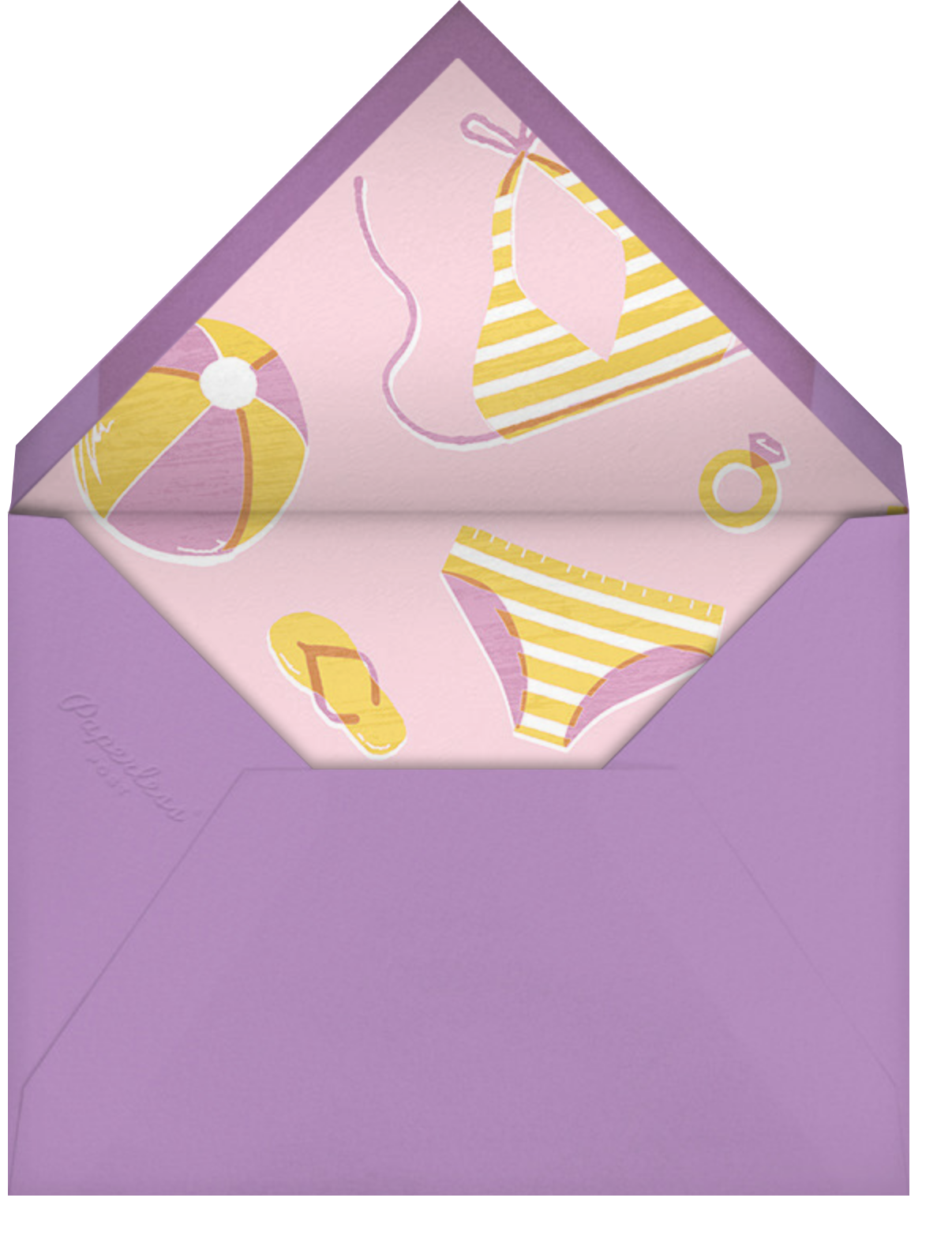 Fine and Sandy - Paperless Post - Bachelorette party - envelope back