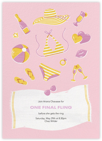 Fine and Sandy - Paperless Post - Bachelorette Party Invitations