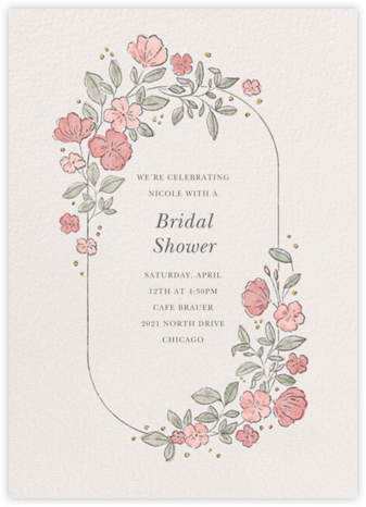 Antique Flowers - Paperless Post - Bridal shower invitations