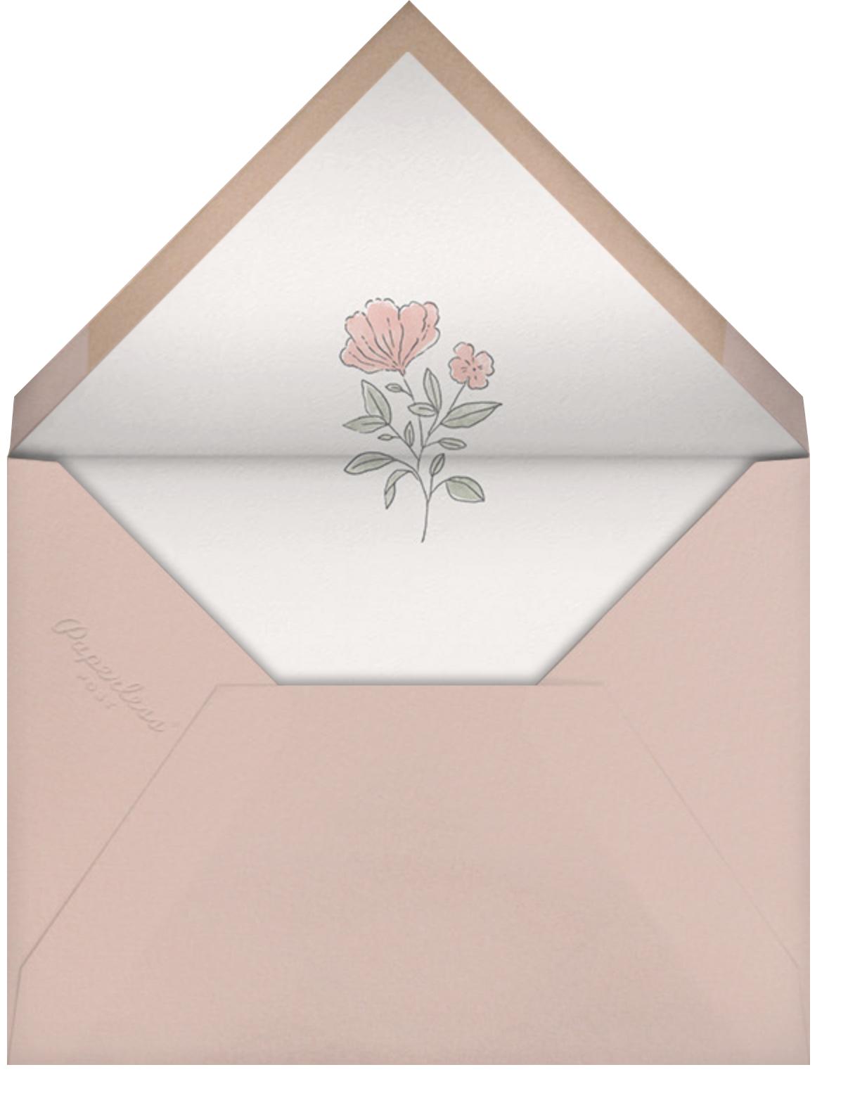 Antique Flowers - Paperless Post - Bridal shower - envelope back