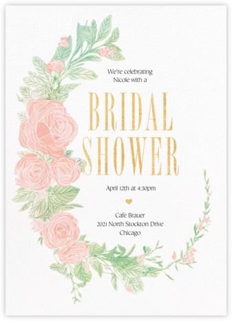 Blush Roses - Paperless Post - Bridal shower invitations