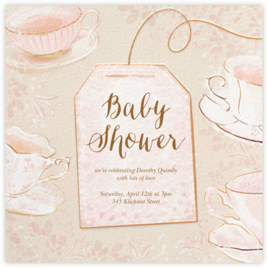 Sipping Tea - Paperless Post - Baby Shower Invitations