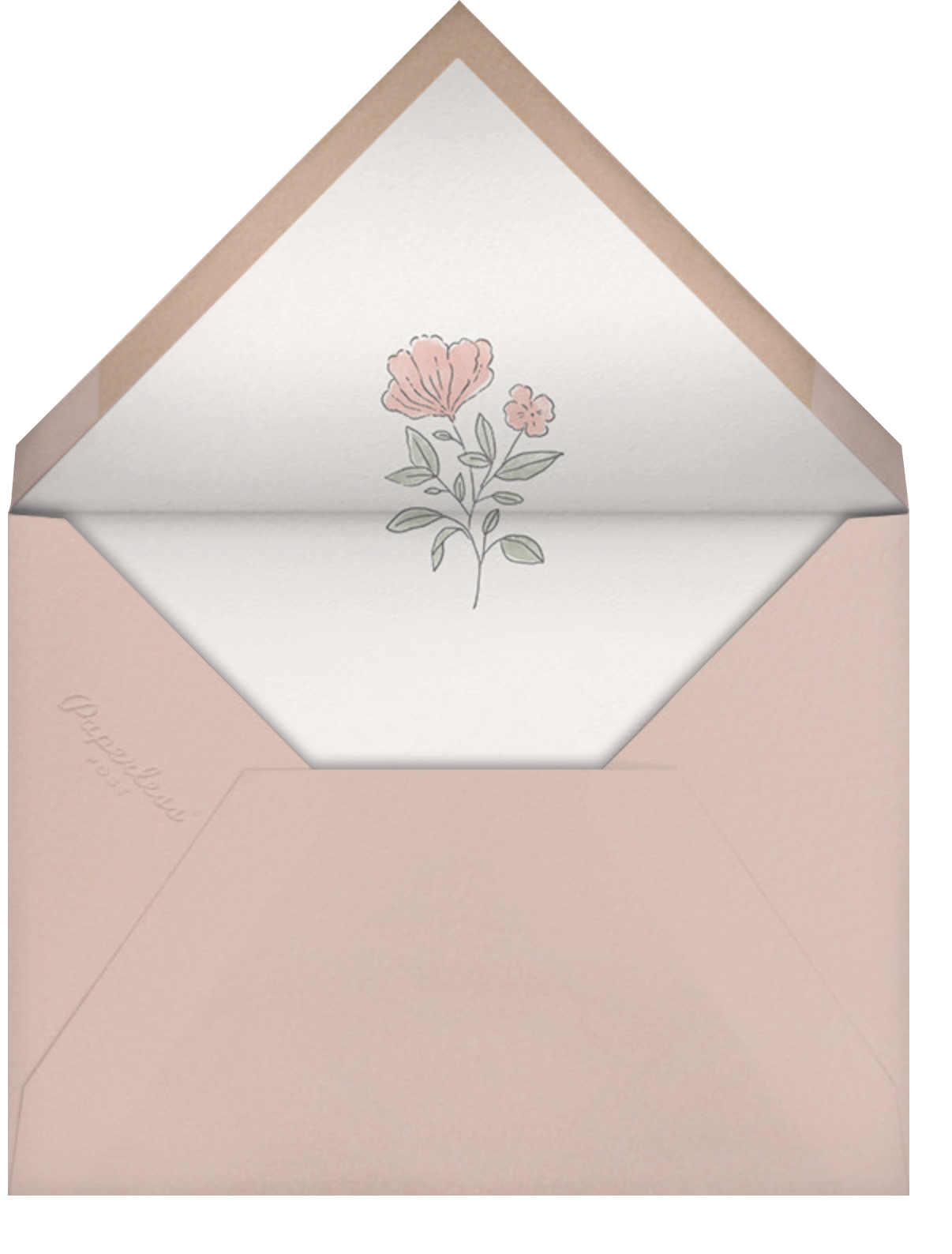 Antique Flowers - Paperless Post - Save the date - envelope back