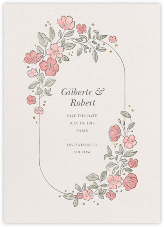 Antique Flowers - Paperless Post - Save the dates