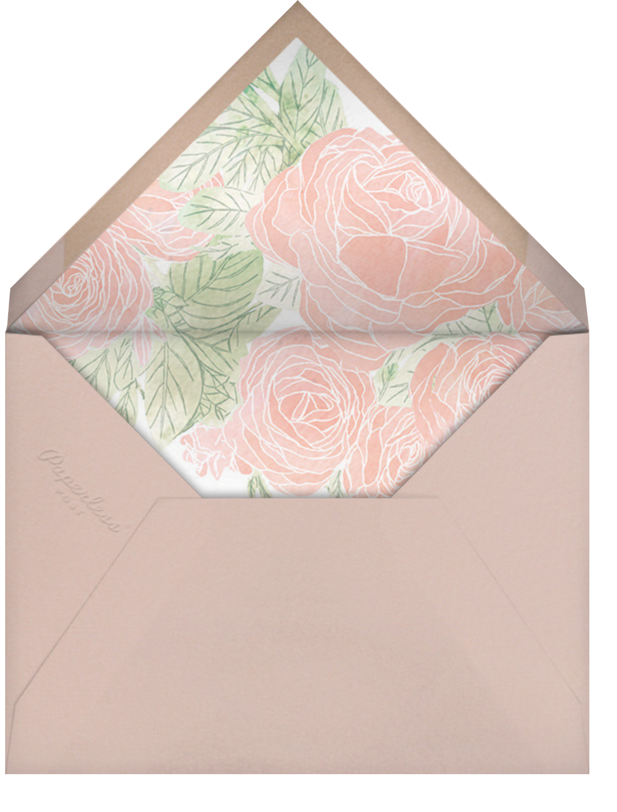 Blush Roses - Paperless Post - Save the date - envelope back