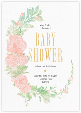 Blush Roses - Paperless Post - Online Baby Shower Invitations