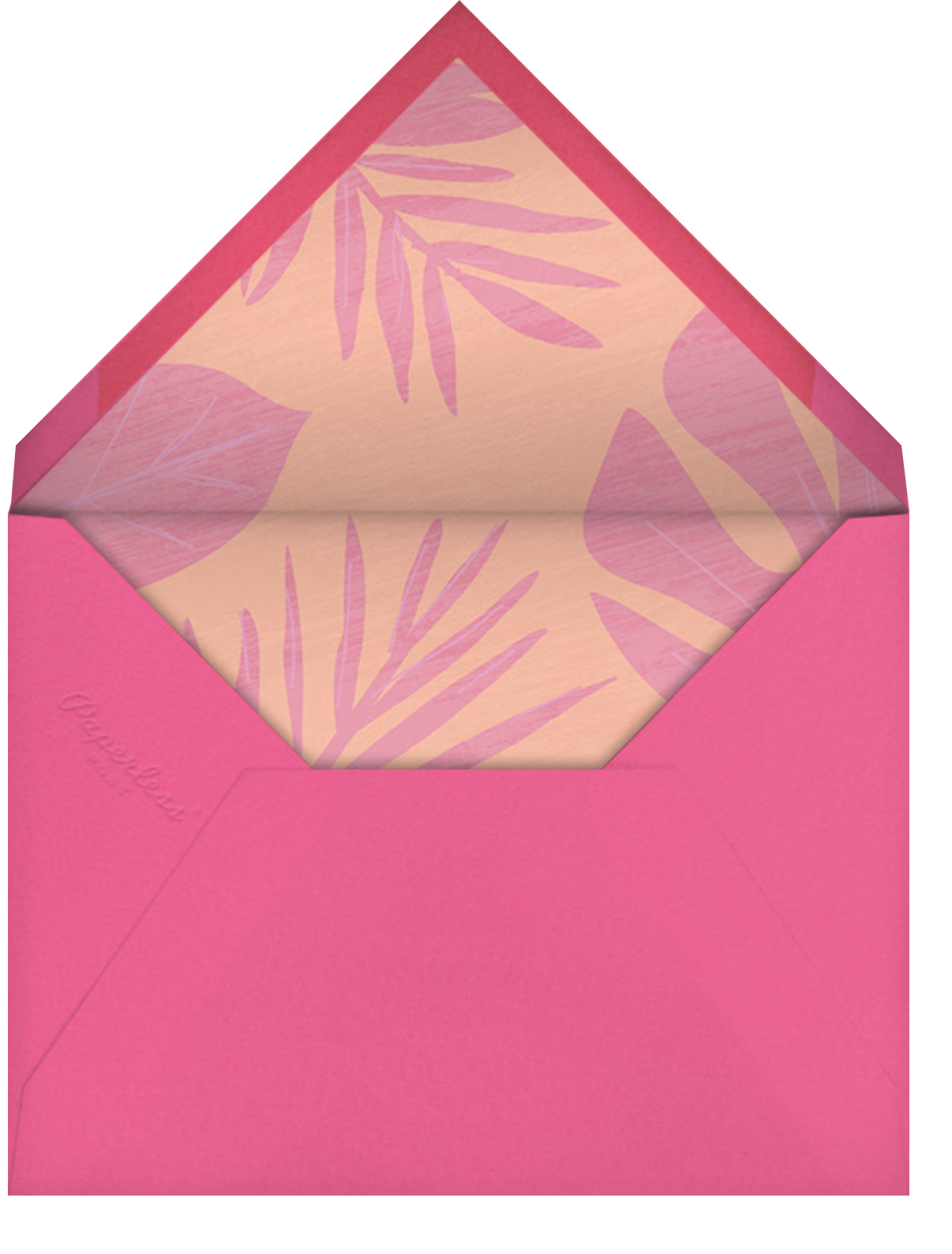 Flamingo Floatie - Paperless Post - Pool party - envelope back