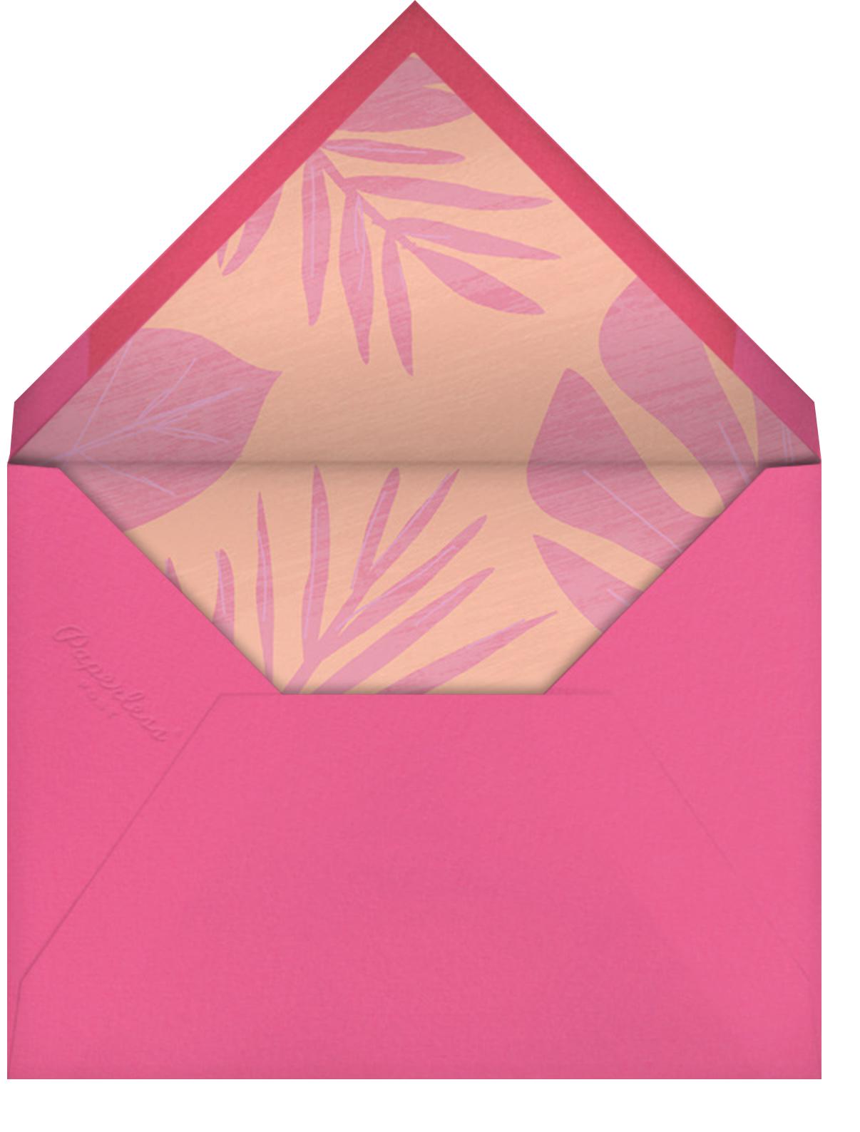 Flamingo Floatie - Paperless Post - Adult birthday - envelope back