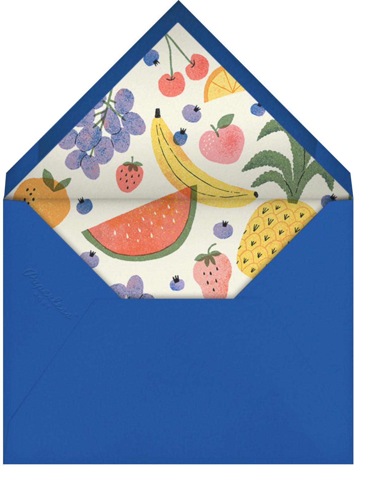 Loose Fruit - Paperless Post - Dinner party - envelope back