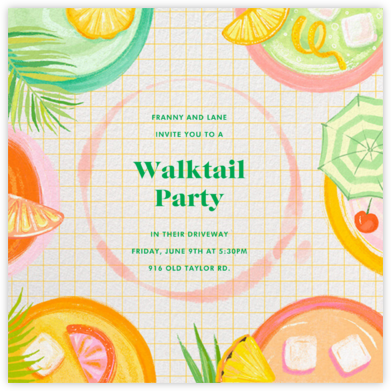 Tropical Grid - Paperless Post - Happy Hour Invitations