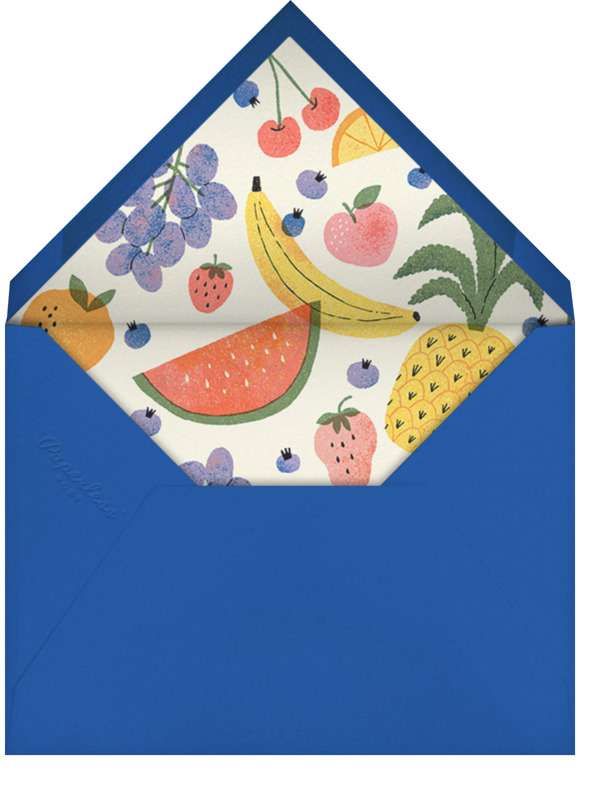 Loose Fruit - Paperless Post - Summer entertaining - envelope back