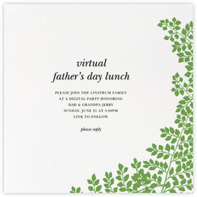 Fern II (Invitation) - Green - Paperless Post - Father's Day Invitations