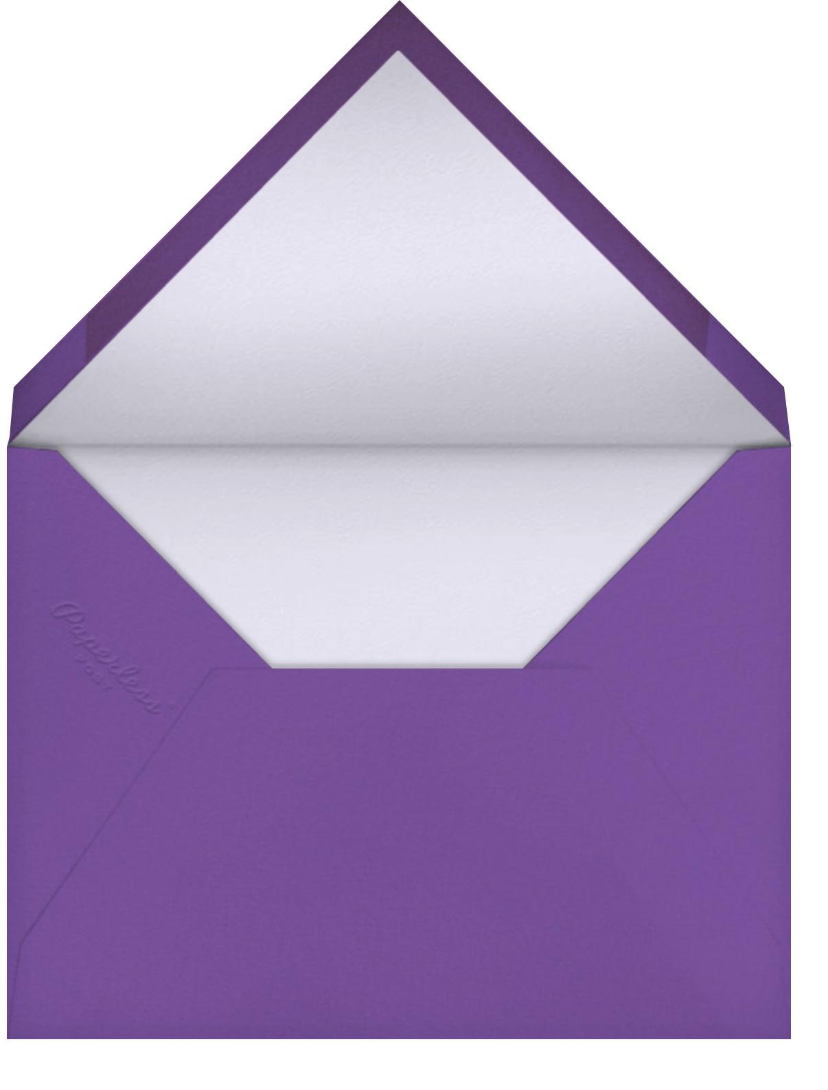 Purple Pansies - Anthropologie - Thinking of you - envelope back