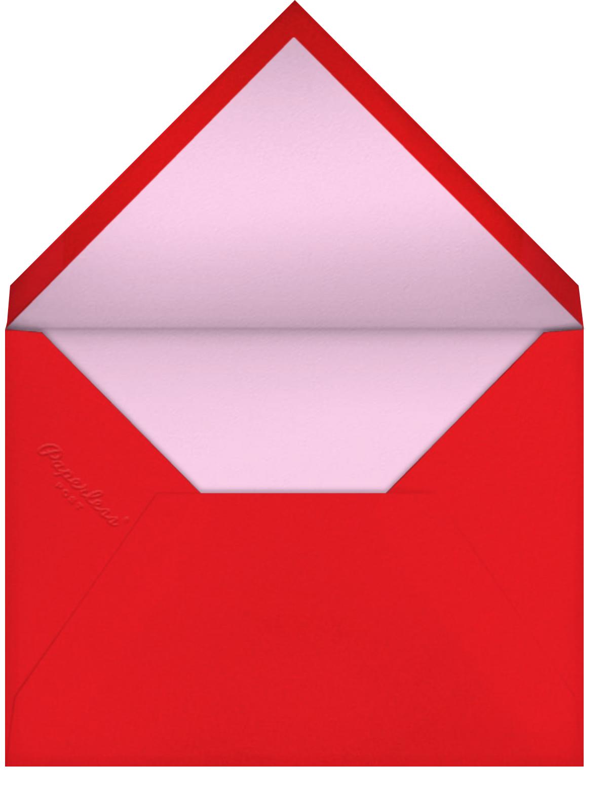 Red Petals - Carnation - Anthropologie - Thinking of you - envelope back