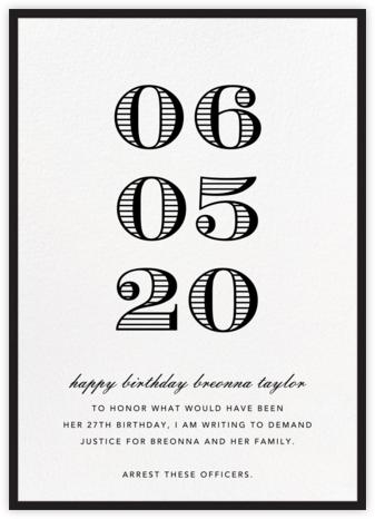 Contorno - Black - Paperless Post - Breonna Taylor Birthday Cards