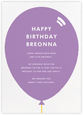 Birthday Balloon - Lilac - Paperless Post
