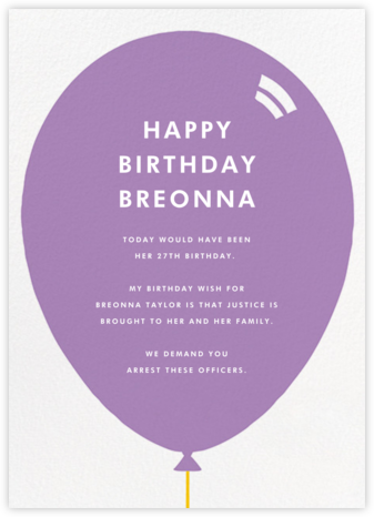 Birthday Balloon - Lilac - Paperless Post -