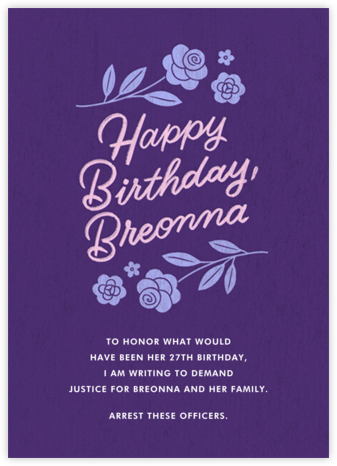 Happy Birthday, Breonna | tall