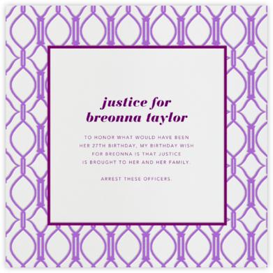 Cadogan Purple Square - Paperless Post - Breonna Taylor Birthday Cards