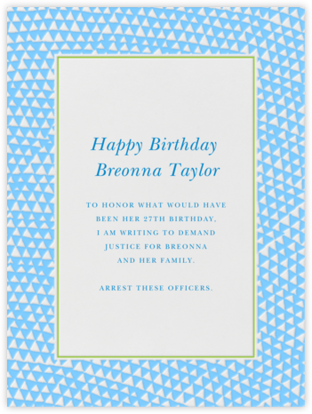 Armadillo - Light Blue and Charterhouse - Paperless Post - Breonna Taylor Birthday Cards