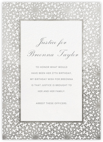 Deco Border - White - Paperless Post - Breonna Taylor Birthday Cards
