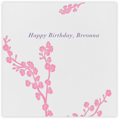 Cherry Blossoms - Paperless Post - Birthday Cards