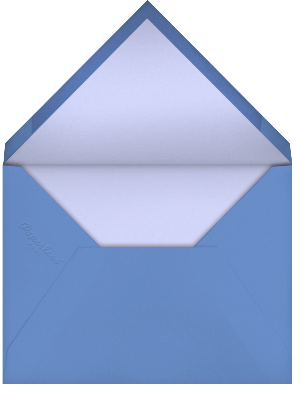 Gradient Painted - Blue - Paperless Post - Breonna Taylor birthday cards - envelope back