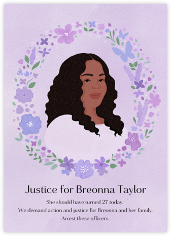 Justice For Breonna Taylor - Paperless Post -