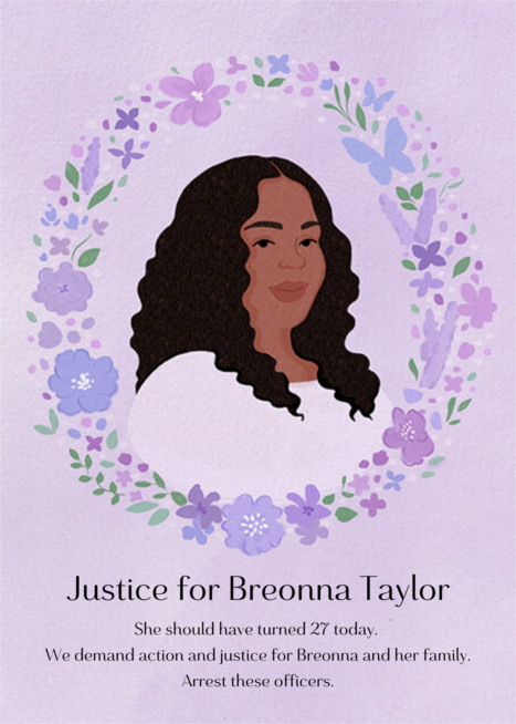 Justice For Breonna Taylor Send Online Instantly Track Opens